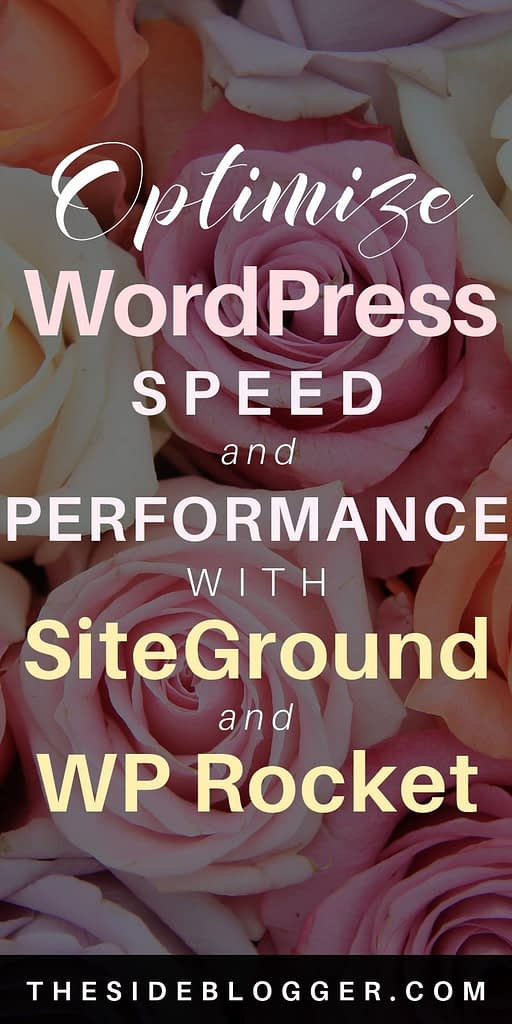 How to improve WordPress speed and performance with SiteGround hosting and WP Rocket plugin.