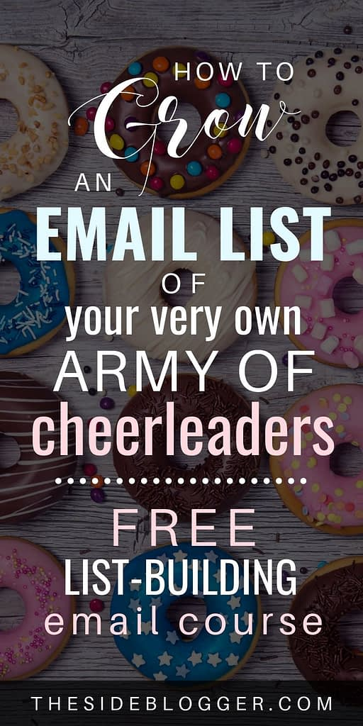 How to grow a thriving email list with your blog, even if you're a brand new blogger! Sign up for the FREE email course to learn all the tricks and tips!
