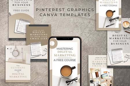 Pinterest Graphics Templates in Canva - 12 Unique Designs