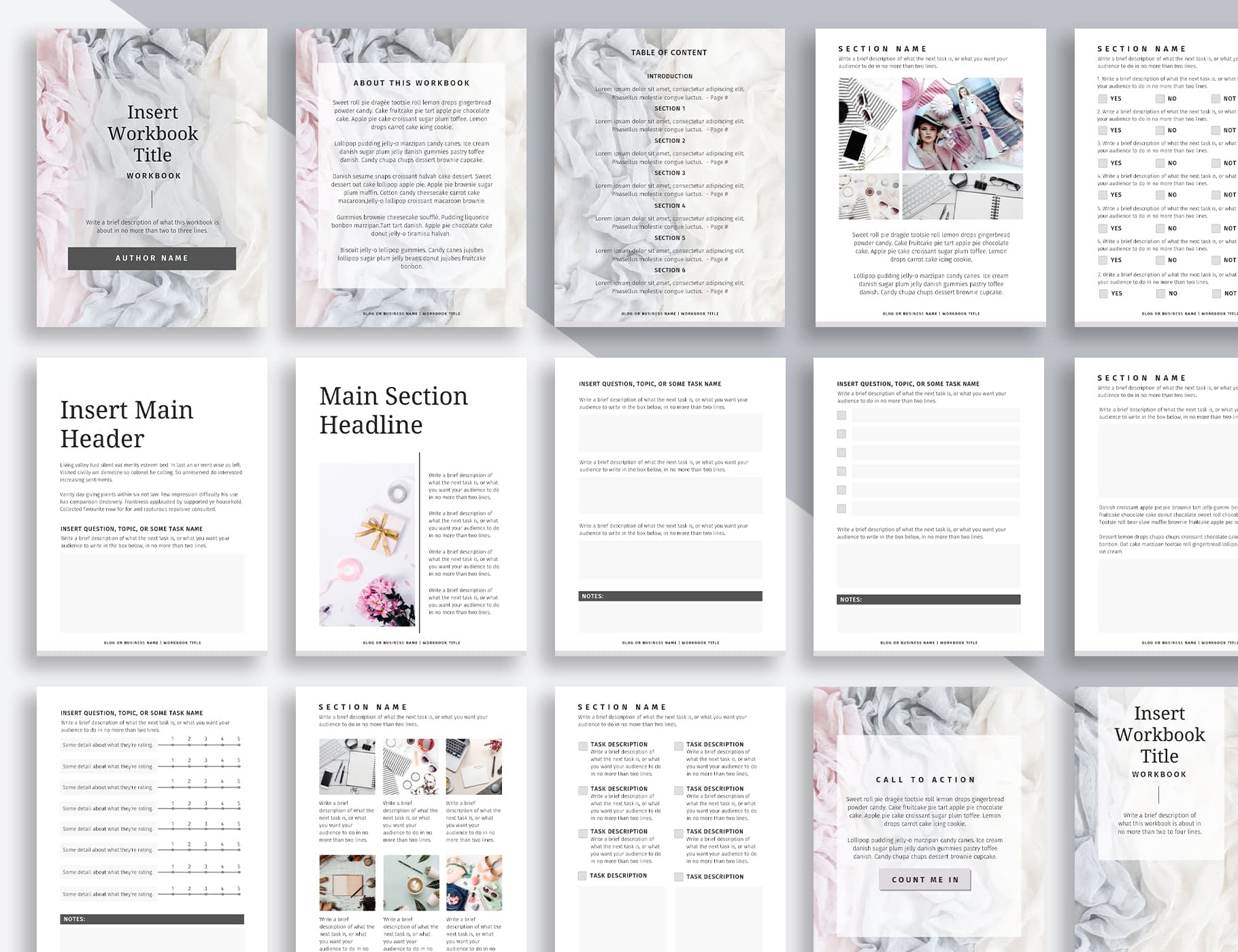 Silver - A workbook template made with Canva.