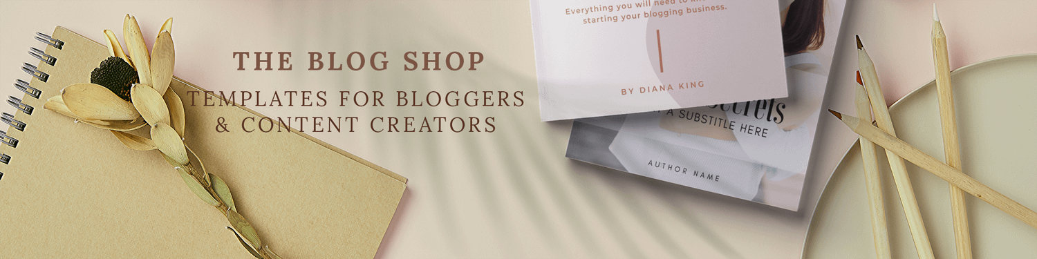 The blog shop banner image.