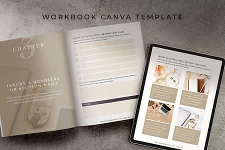 Mink Workbook Canva Template