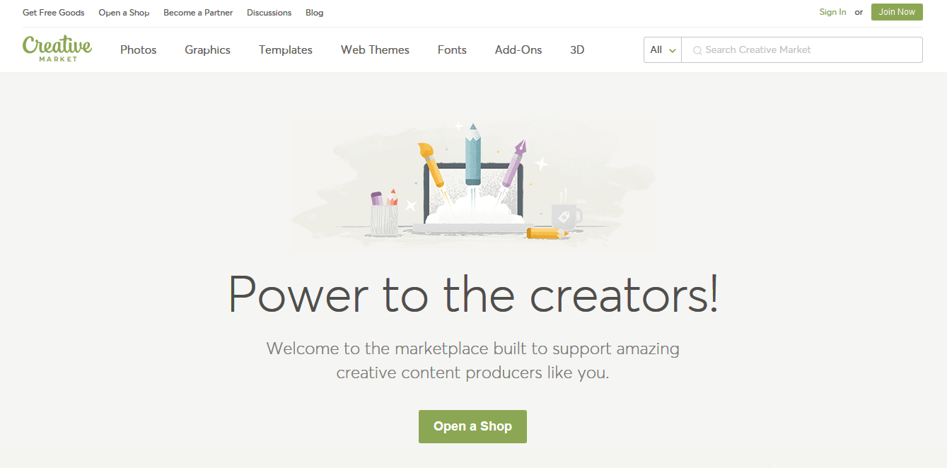 """Create """"Open a Shop"""" again on the next page."""