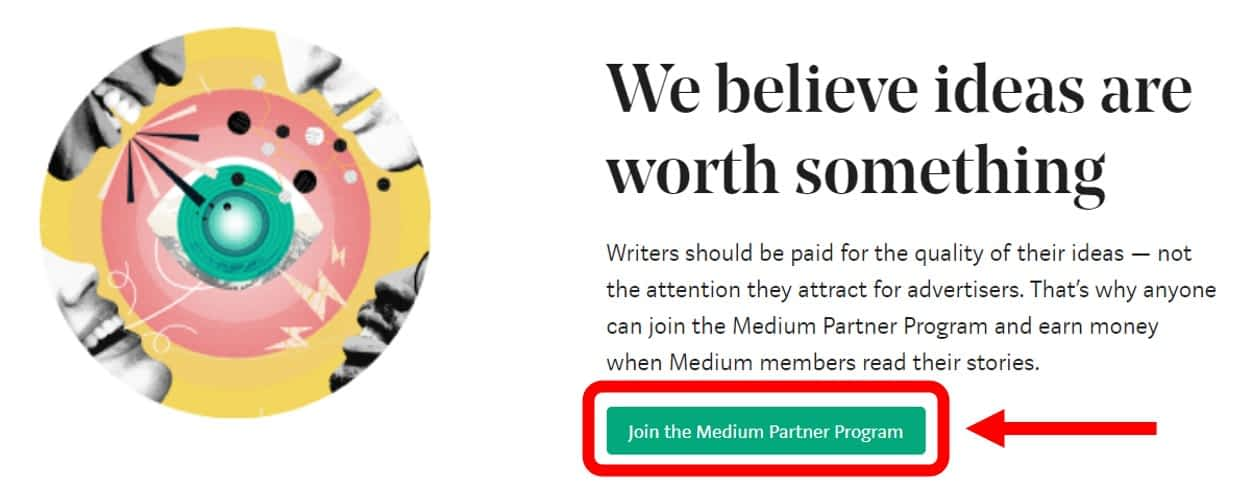 Click on 'Join the Medium Partner Program.'