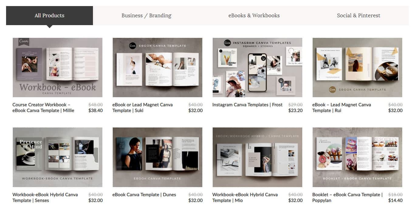 The Side Blogger Canva Template Shop