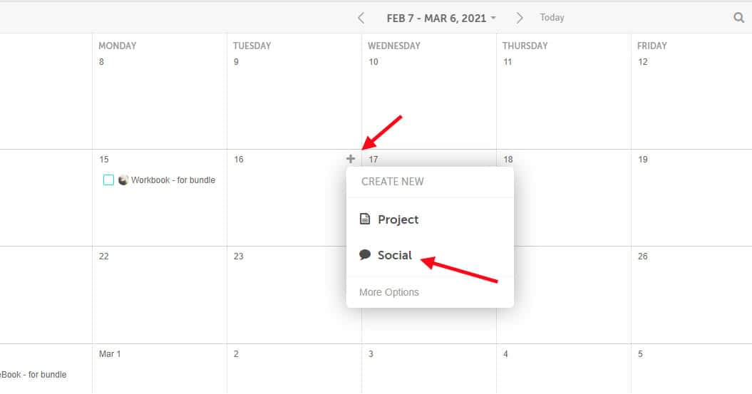 Add social posts from the CoSchedule calendar.