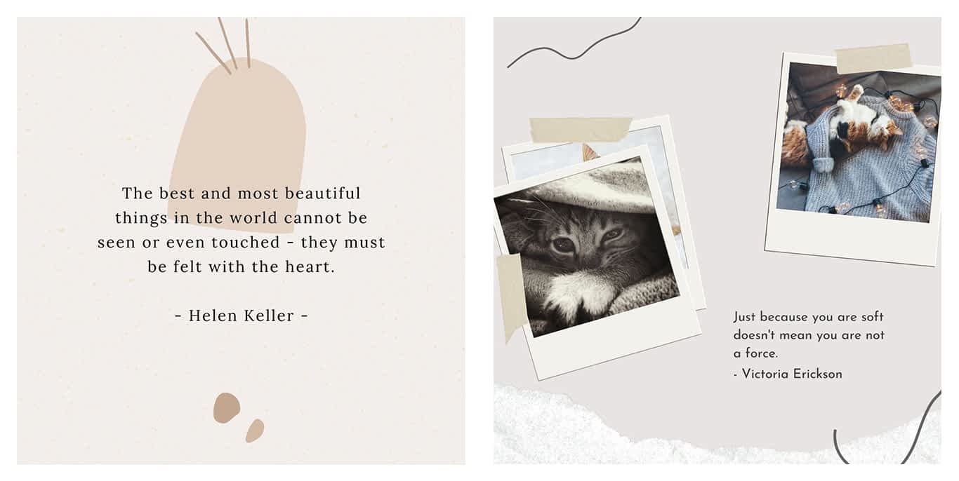 Instagram Canva templates for quotations