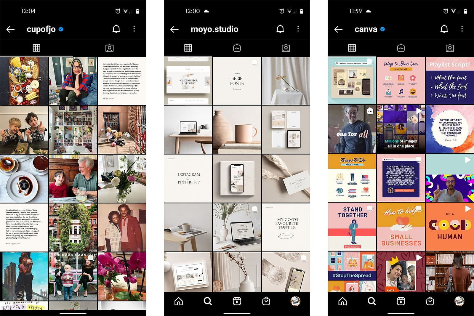 Instagram feed examples