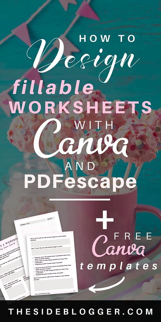 How to design fillable worksheets with Canva and PDFescape - A tutorial with screenshots and videos and some free Canva templates!