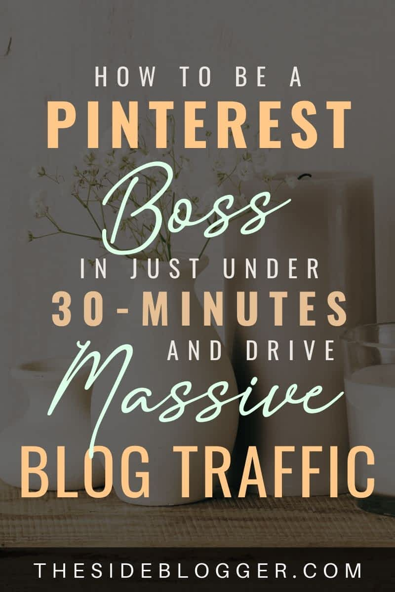 How to drive massive blog traffic with Pinterest.