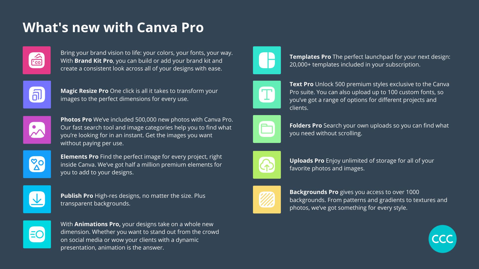 Canva Pro features