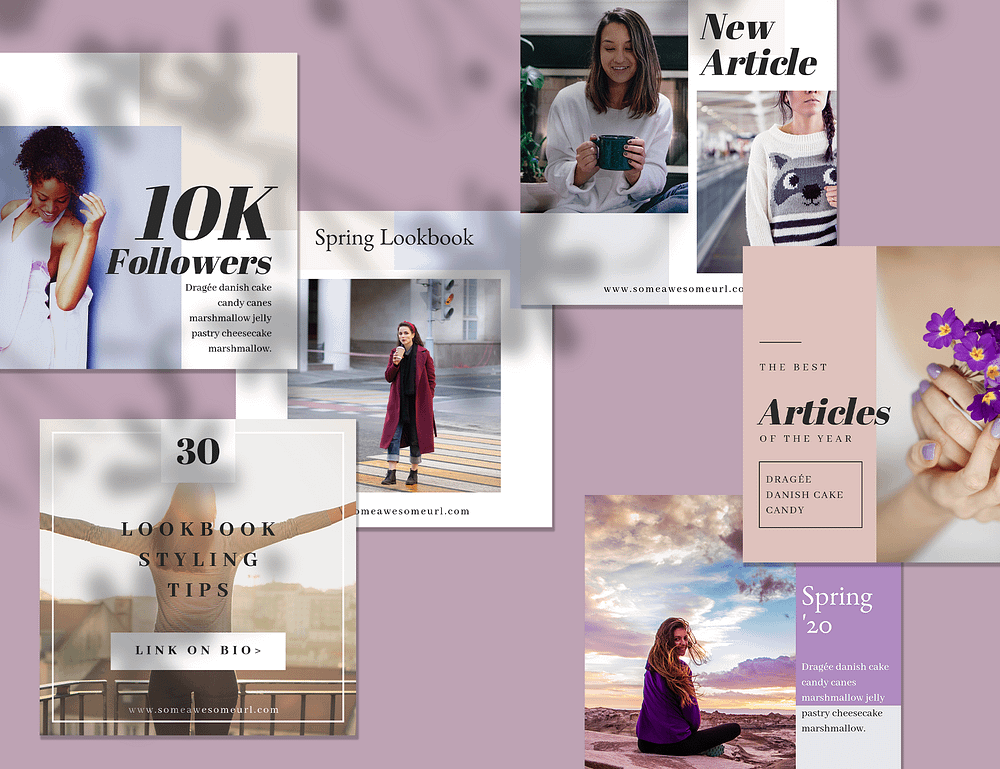 12 Instagram templates made with Canva, priced at $18.