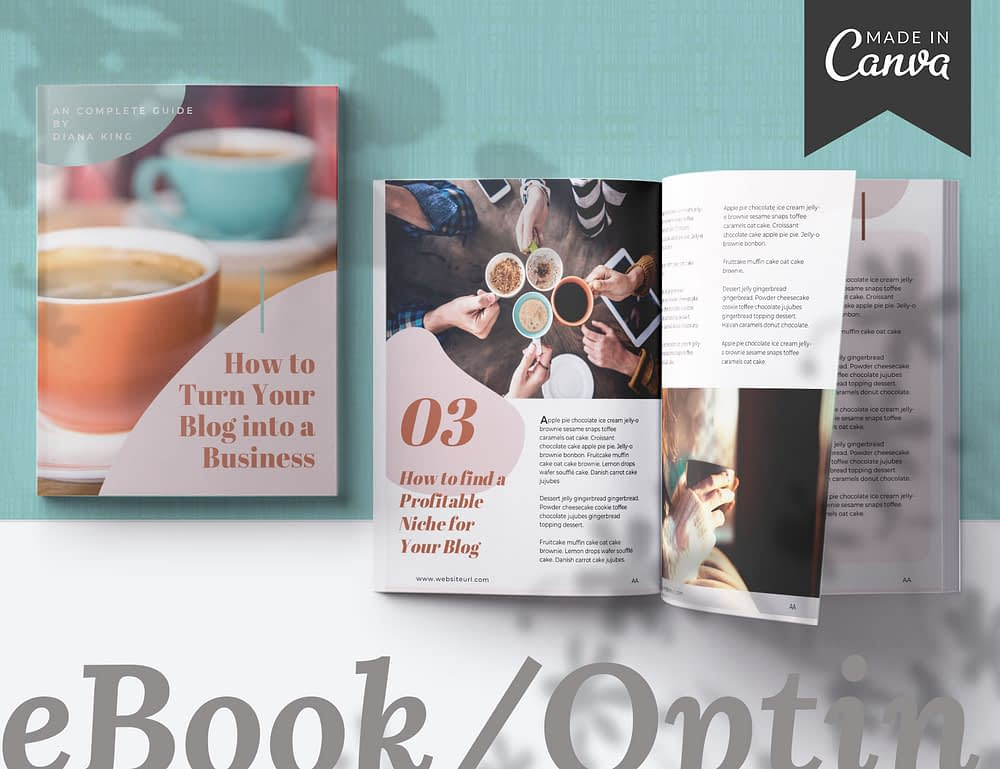 Memphis - a 20 page eBook Canva template for bloggers.