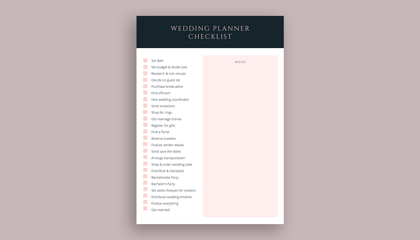 A Canva-made checklist that you can customize.