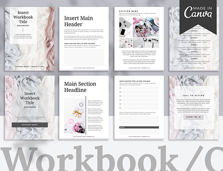 A 20-page Workbook template made with Canva.