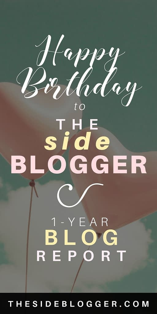 One-Year blog report for The Side Blogger
